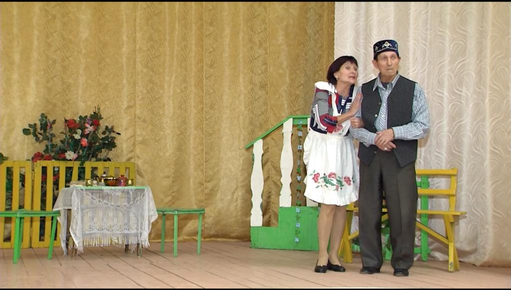 Татарский народный театр на сцене ДК Новых Булгаров
